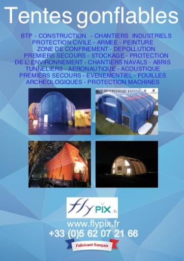 Abri piscine, tente gonflable de chantier ou tente PMA, FlyPix propose ses conseils et son savoir-faire.