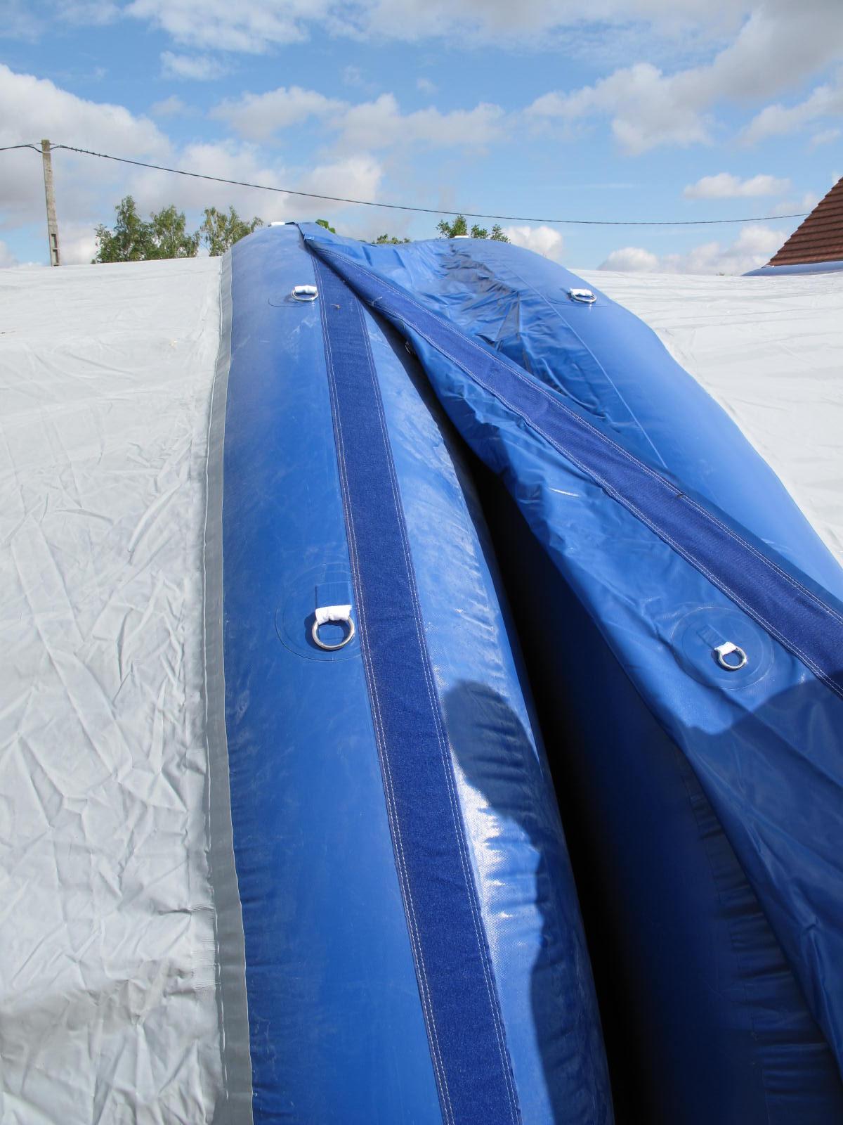 Raccord de tente en PVC, entre 2 modules.
