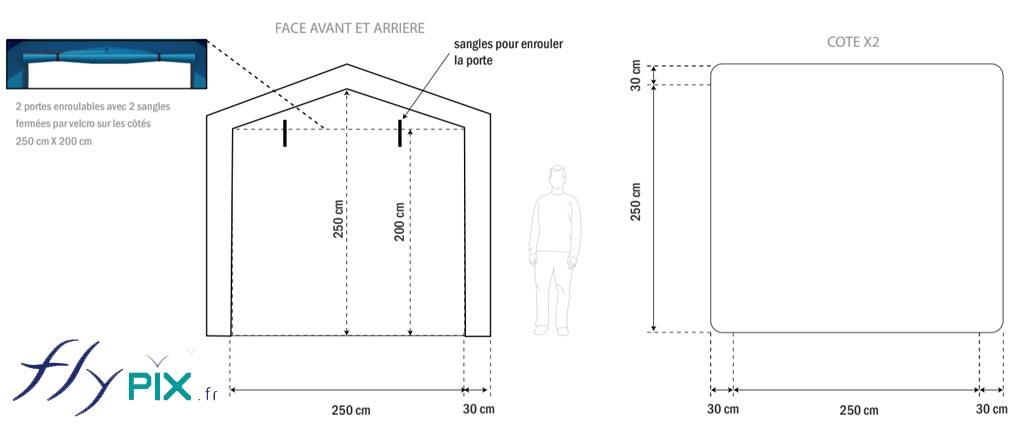 Bon à tirer pour une tente gonflable de chantier pour un menuisier, pour la pose de portails.